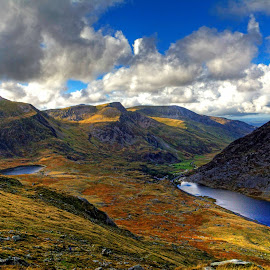 View from Tryfan by Nerijus Liulys - Landscapes Mountains & Hills ( water, mountain, hdr, nature, snowdonia,  )