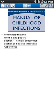 Manual of Childhood Infections - screenshot