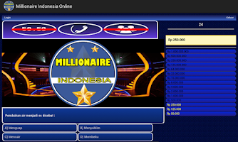 Screenshot of Millionaire Indonesia Online