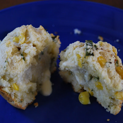Corn and Basil Muffins