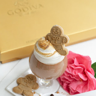 GODIVA Chocolate Parfait with Toasted Gingerbread Marshmallow Fluff