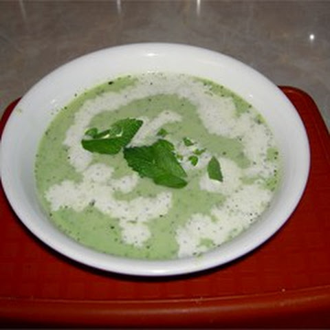Green Peas and Broccoli Soup