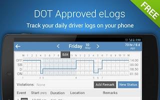 Screenshot of Trucker Logbook - KeepTruckin