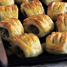 Pork, walnut and Stilton sausage rolls