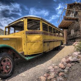 Old School by Dave Zuhr - Transportation Other ( old, school, bus, d_zuhr, dzuhr )