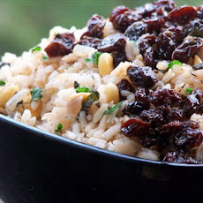 Herbed Rice With Currants in Olive Oil and Balsamic Vinegar