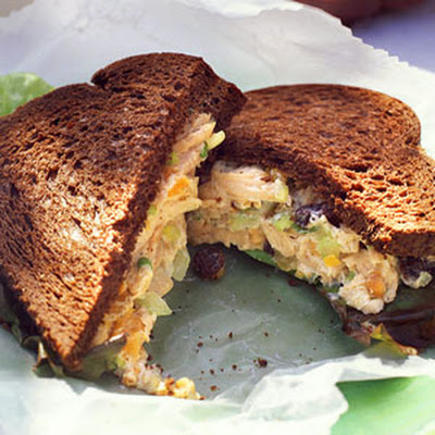 Apricot-Nut Turkey-Salad Sandwiches