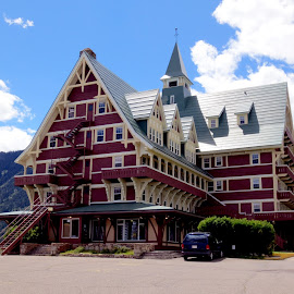 Prince of Wales by Linda Doerr - Buildings & Architecture Office Buildings & Hotels ( mountains, waterton, resort, lake, hotel )