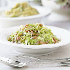 Sautéed Green Cabbage with Country Ham