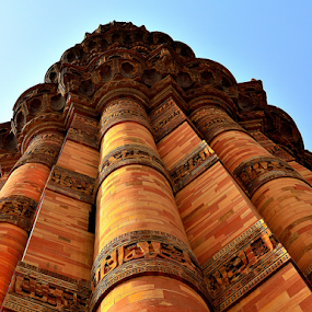 by PINAKI MITRA - Buildings & Architecture Architectural Detail ( qutb minar, sultan, slave dynasty, islamic, indian, architecture, world heritage, unesco, mehrauli, delhi, sultanate, ancient, qutub minar, india, historical, medieval, qutab minar )