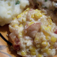 Creamy Corn and Bacon Bake