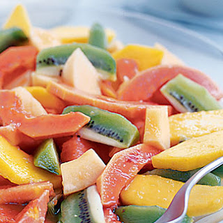 Exotic Fruit Salad With Ginger And Fromage Frais