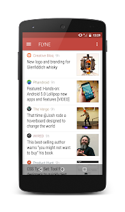 Flyne. The Offline Reader. Screenshot