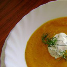 Creamy Smoked Carrot Soup