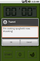 Screenshot of Music Kitchen Timer