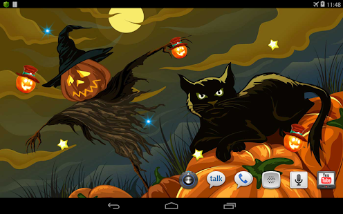 Night Halloween live wallpaper - screenshot