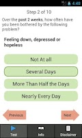 Screenshot of Depression Test