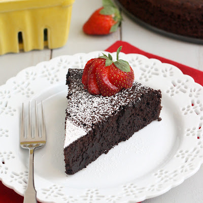 Dark Chocolate Soufflé Cake