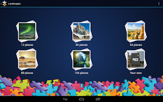 Screenshot of Landscapes Jigsaw Puzzles