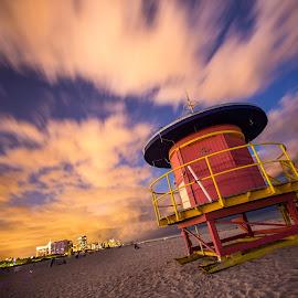 Watching by Koustav Dutta - Buildings & Architecture Other Exteriors ( sky, watchtower, night, beach, travel )