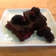 Gluten Free Roasted Blackberry Brownies