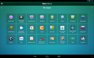 Screenshot of Worx Home for Samsung