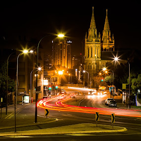 by Bob Stanford - City,  Street & Park  Night