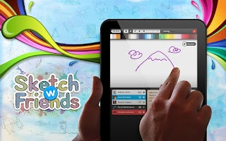 Screenshot of Sketch W Friends FREE -Tablets