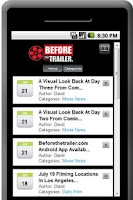 Screenshot of Beforethetrailerer.com App