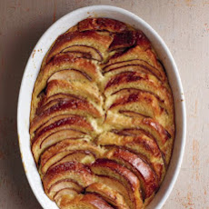 Pear and Chocolate Brioche Bread Pudding