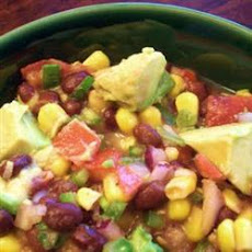 Sweetcorn Bean and Avocado Dip