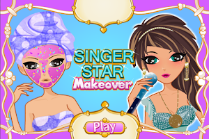 Screenshot of Singer Star Makeover Salon