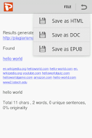Screenshot of Plagiarism Checker