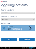 Screenshot of Info Treno