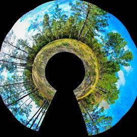 The Inverted Keyhole by Jon Kowal - Digital Art Abstract
