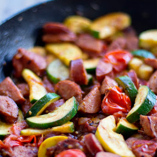 Smoked Sausage and Zucchini Skillet