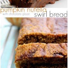 Pumpkin Nutella Swirl Bread