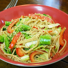 Cold Sesame Noodles With Vegetables And Peanut Sauce