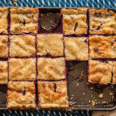 Blueberry Peach Slab Pie