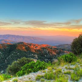 Arizona in March by Sean Doran - Landscapes Deserts ( moutain, desert, arizona, tucson, view, evening )
