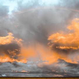 Sunrise rainbow by Calvin Morgan - Landscapes Sunsets & Sunrises ( clouds, weather, cloudscape, sunrise, nikon d7000, rainbow )