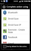 Screenshot of Droid Save IP