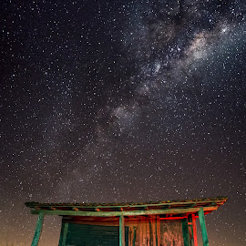 ... by Matheus Dalmazzo - Landscapes Starscapes ( exposure, cabana, via, lactea, hut, milk, way, night, long )