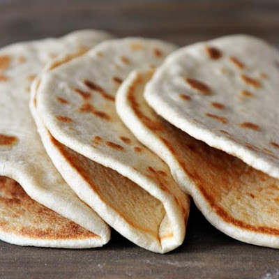 Homemade Flatbread {Greek Pocketless Pitas}