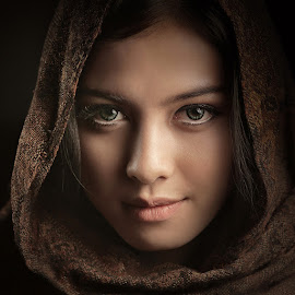 Kashmiri Girl by Lucky E. Santoso - People Portraits of Women
