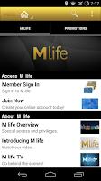 Screenshot of M life