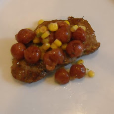 Sweet Cherry Salsa Pork Chops