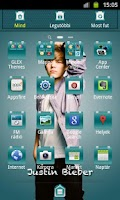 Screenshot of Justin Bieber GO Theme
