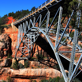 Midgley Bridge by Rhonda Silverton - Buildings & Architecture Bridges & Suspended Structures ( midgley bridge, arizona, bridge, sedona,  )