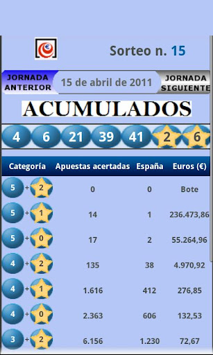 españa-loterias for android screenshot